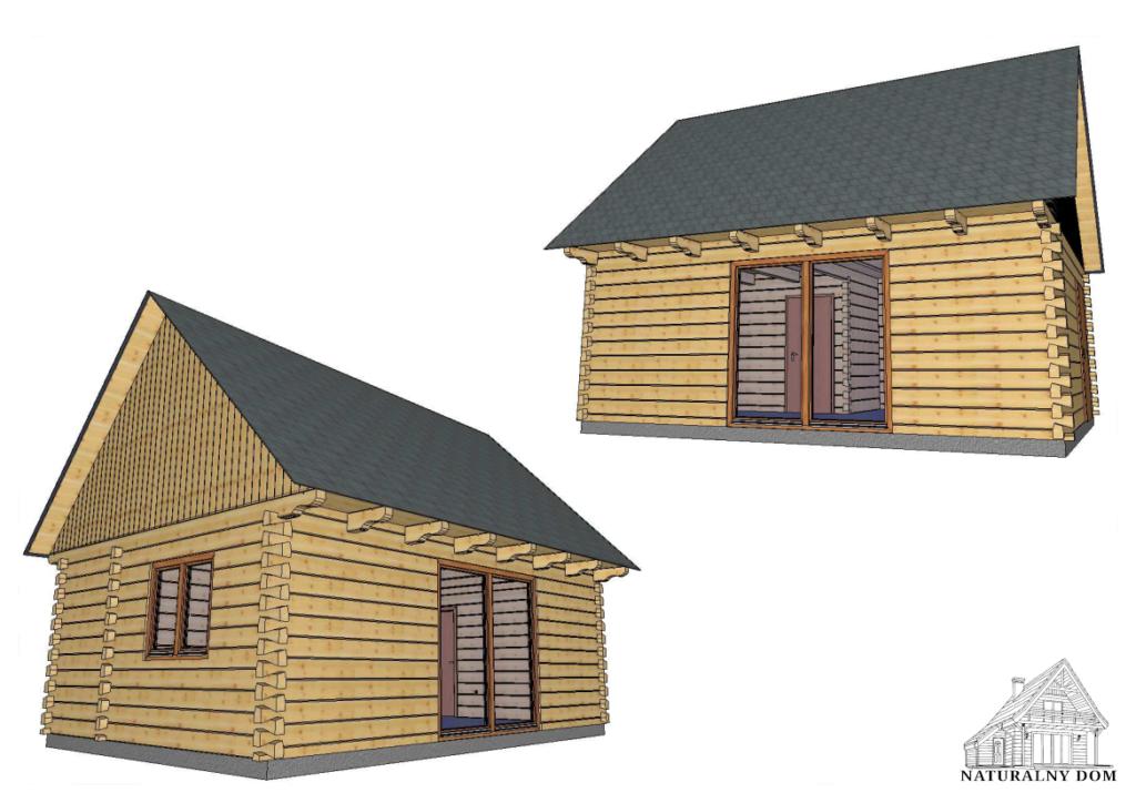 Dom z Bala Jaskółczy Ogon - wizualizacja